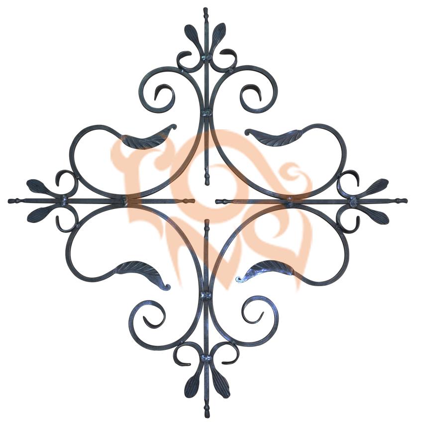 Узоры из кованых элементов